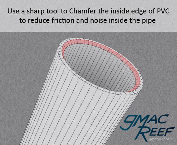 PVC chamfer  sc 1 st  gmacreef & Plumbing a Reef - Cutting Pipe Gluing Mounting Bulkheads