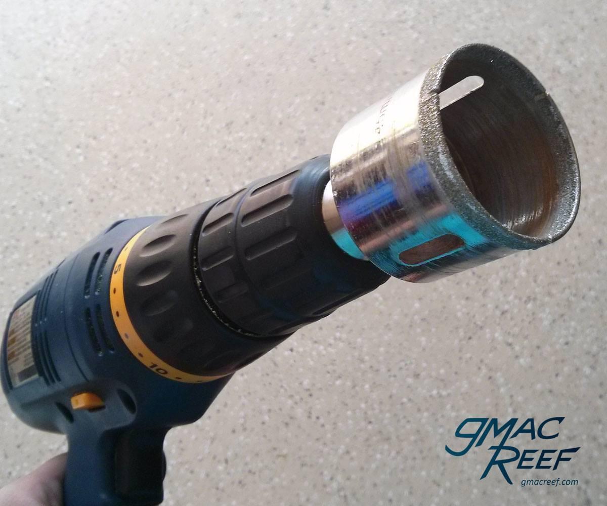 drill aquarium diamond bit hole saw