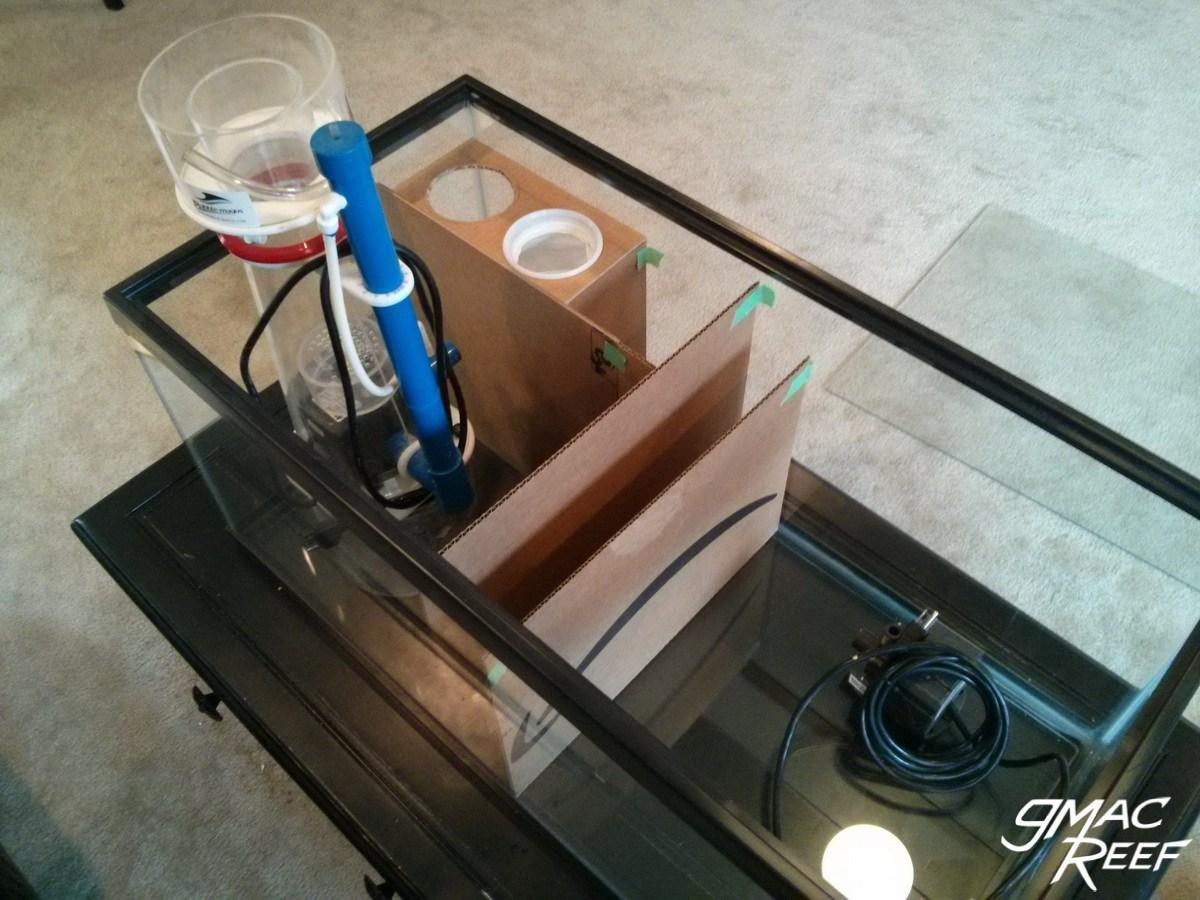 reef tank sump diy glass baffles guide