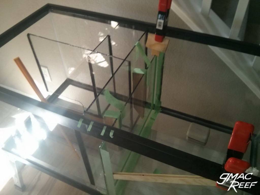 Sump DIY Build Baffles Glass Dividers