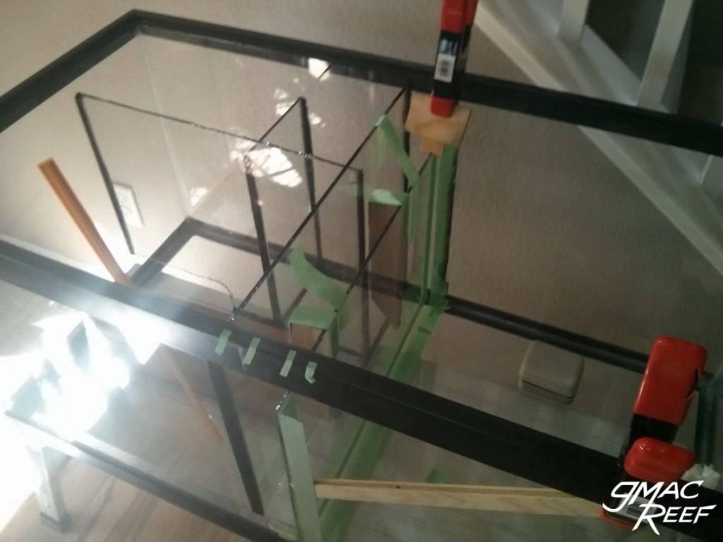 Sump DIY Build Baffles Glass Dividers