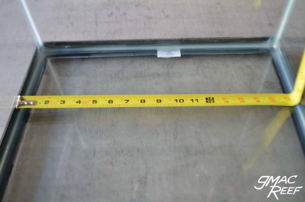 measure inside aquarium for aquarium sump baffle