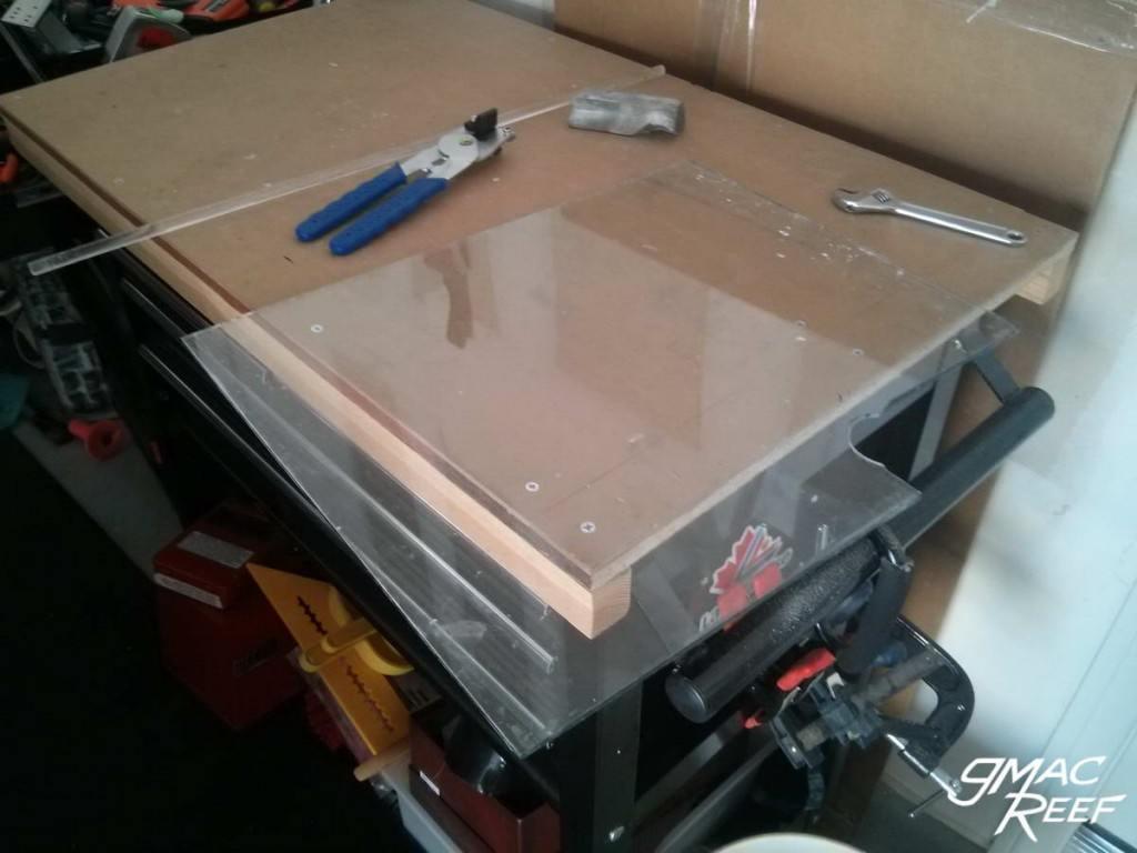 Sump Baffle DIY corner notch glass cut