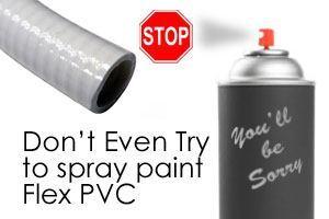 spray paint spa flex pvc